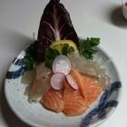 Foto zu morita - Kultur & Lebensart aus Japan: 29.03.18 Sashimilandschaft von Dorade,  Lachs und Wolfsbarsch