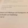 Gulasch mit Pfifferlingen und Champignons, dazu Bandnudeln und Salatbeilage (12,50 €)