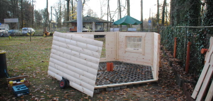 Fotoalbum: Bau unserer Grillkota
