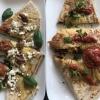Wochen crepe mit blattspinat Ziegenkäse Pesto Rosso und getrockneten Tomaten , und der grüne mit Avocado Feldsalat Käse frischkäse Tomaten .....