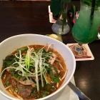 Foto zu Ha-Long Restaurant und Teehaus: Apfel-Ingwer-Minz-Limo & Suppe mit Rind & Vietn. Wurst