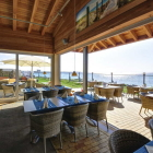 Foto zu Restaurant Seeblick - Ferienpark Wulfener Hals: Wintergarten und windgeschützte Terrasse