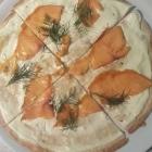 Foto zu Restaurant nikkisch: Lachs-Dill Flammkuchen