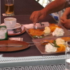 Apfelküchle mit Vanilleeis