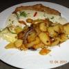 Knobi-Schnitzel mit Bratkartoffeln