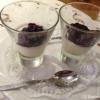 Abschied des Hauses: Panna cotta mit Heidelbeeren