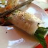 Gedämpfte Reispapierrollen mit Garnelen-Hühner-Pâté-Füllung