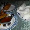 Frühlingsrolle, Wan-Tan gebacken, Krabbenchips