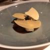 Gänselebercreme/ eingelegte Feigen / Ananaspapier, Muscovado Zucker, Kaffee, Chili