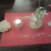 Tischdekoration mit Buchstabennudeln