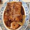Entenfleisch knusprig gebacken mit Garnelen