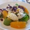 Texturen vom Kopfsalat, Burrata, Orangen