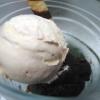 Weiße Schokolade in Eisform