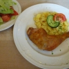 Hähnchenkeule mit Kartoffelsalat
