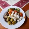 Zusammenstellung vom Salatbuffet