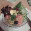 Salatteller zum Zigeunersteak