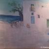 südländisches Gemälde über unserem Tisch