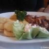 Gegrillter Kalamari mit Kartoffel(Diskus)Scheiben