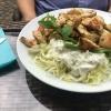 Salat mit Hähnchstücken