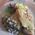 Foto zu Gaststätte Höckericht: Lachs mit Reis an Mangosauce