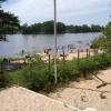 Blick von unserem Tisch auf den See