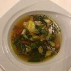 Foto zu Hotel Restaurant Zur Krone: Eintopf von Steinbutt u. Scampi mit Gemüse u. Safran