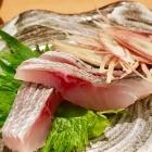 Foto zu Sushi Glas: Hamachi sashimi