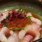 Foto zu Sushi Glas: Yuzu-Ceviche von hamachi und amaebi