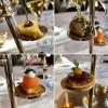 Apéro Etage: Bergkäsetartelette / Sushi Rolle mit Shiitake / Balik Lachs mit Kaviar / Gänseleber-Rillette mit Granatapfel