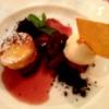 Tortino di Ricotta con Prugne e gelato alla Vaniglia Ricotta Küchlein mit Zwetschgenkompott & Vanilleeis