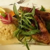 Fischvariation, Zuckerschoten, Risotto