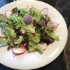 Der gemischte Salat, von mir selber hergestellt, als Beilage