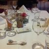 Tisch beim Menu
