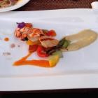 Foto zu Eibsee-Hotel · Restaurant: Garnelenspieß (BBQ)