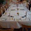 Festlich eingedeckter Tisch für unser Treffen