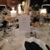 Eingedeckter Tisch im Rittersaal