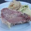Rippchen mit Kartoffelbrei und Sauerkraut
