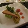 Amuse: Kräutermousse Oliventapenade Tomatengelee