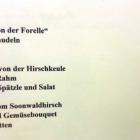 Foto zu Restaurant Lohmühle: Saisonkarte. September 2015.
