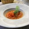 Mandarinen-Chili-Sorbet mit Silvanersekt aufgegossen