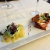 Strudel vom Saibling mit Fenchelsalat und Wasabischaum
