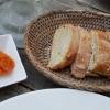 Sauce Rouille und hausgebackenem Baguette