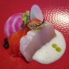 Foto zu Gaststätte Zur Krone: Sashimi von Hamachi und Lachforelle als Amuse Gueule
