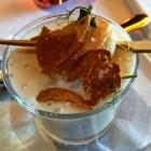 Foto zu Fischrestaurant Blinkfür: Spargelschaumsüppchen mit gebratener Jakobsmuschel