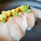 Foto zu Topaz: marinierte Meeräsche, Yuzu, Limetten, Sojabohnen