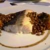 Skrei-Winterkabeljau, Balsamicolinsen, Süßkartoffelpüree