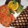 Bifteki mit Schafskäse gefüllt und Reis