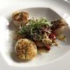 Jakobsmuscheln auf Paprika Artischocken Gemüse