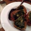 Vorspeise Teigtaschen mit Spinat gefüllt