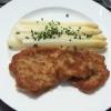 Spargel mit Wiener Schnitzel